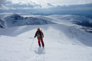 Ski touring up the Cairngorms