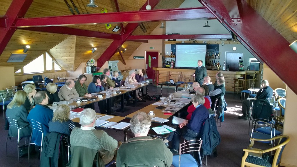 Image showing presentation from Community Land Scotland to a meeting of the Association of Cairngorms Communities