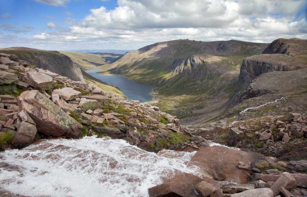 A view of Loch Avon in the Cairngorms National Park in August