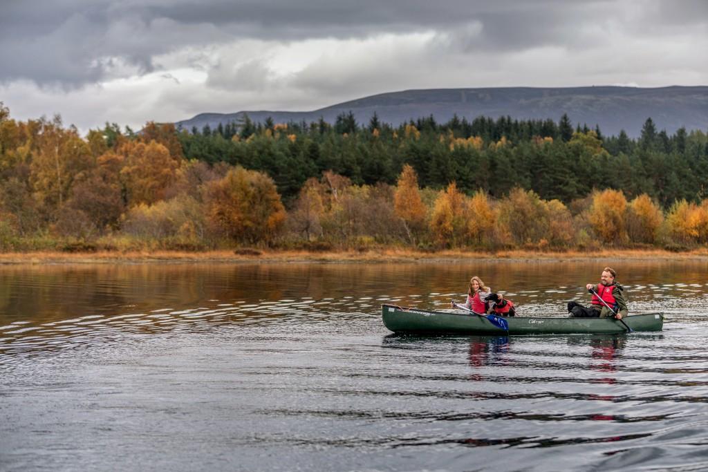 Canoe Loch Morlich Autumn