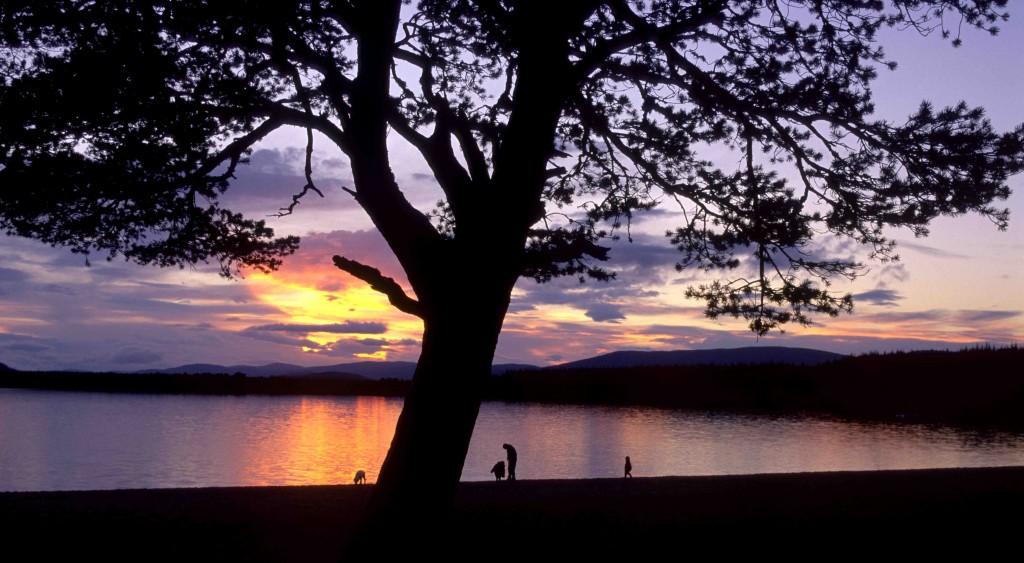 GPL 2017 - Sunset at Loch Morlich, Glen More Inverness-shire