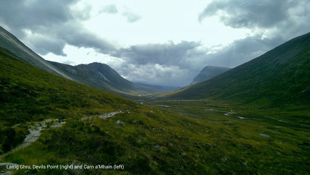 Lairig Ghru with caption