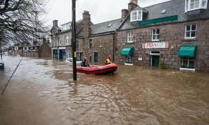 Flooding in Ballater