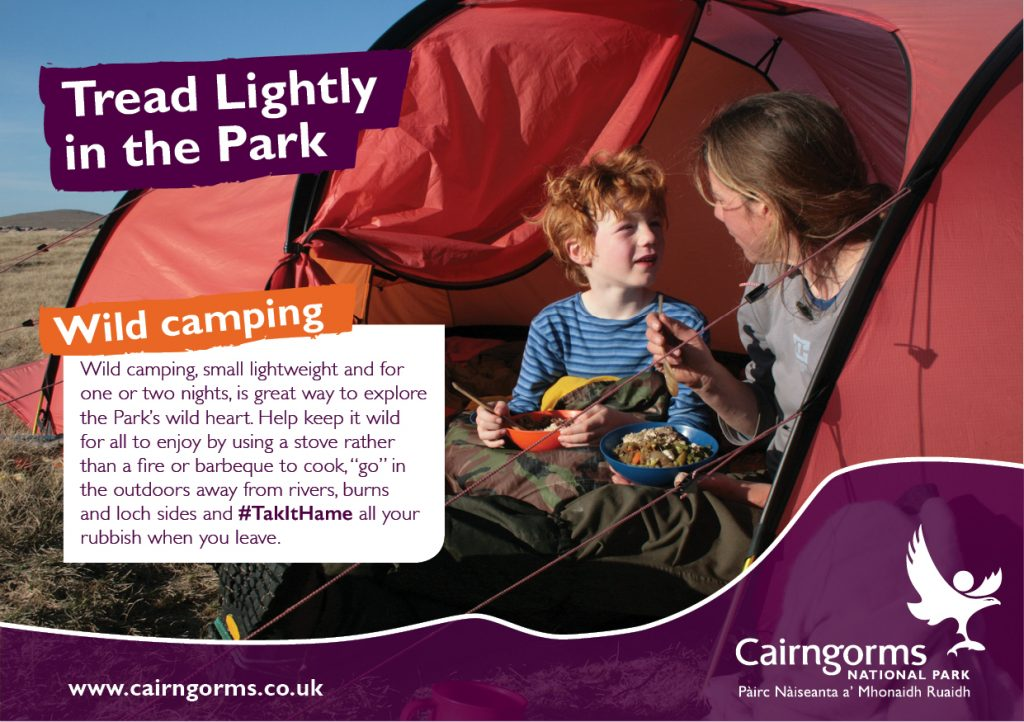 Tread Lightly in the Park when camping