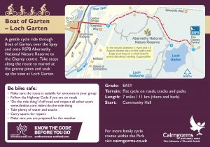 Boat of Garten - Loch Garten Cycle Route Card