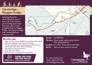 Carrbridge - Sluggan Bridge Cycle Route Card