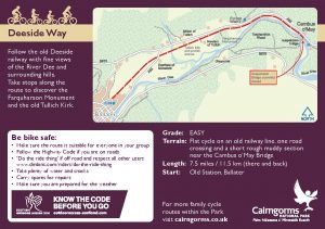 Deeside Way Cycle Route Card