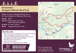Anagach Woods Red Trail Cycle Route Card