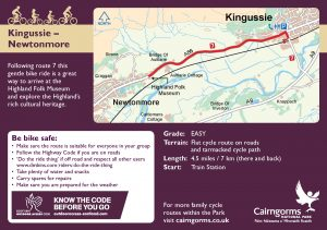 Kingussie - Newtonmore Cycle Route Card