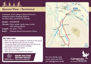 Queens View - Tomintoul Cycle Route Card