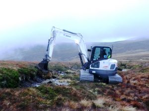 Mechanical Digger on a peat bog