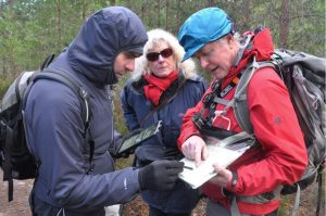 Doug chatting with visitors on the Speyside Way