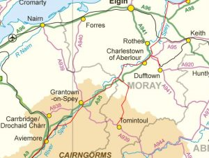 Orientation Map Of Speyside Way 2