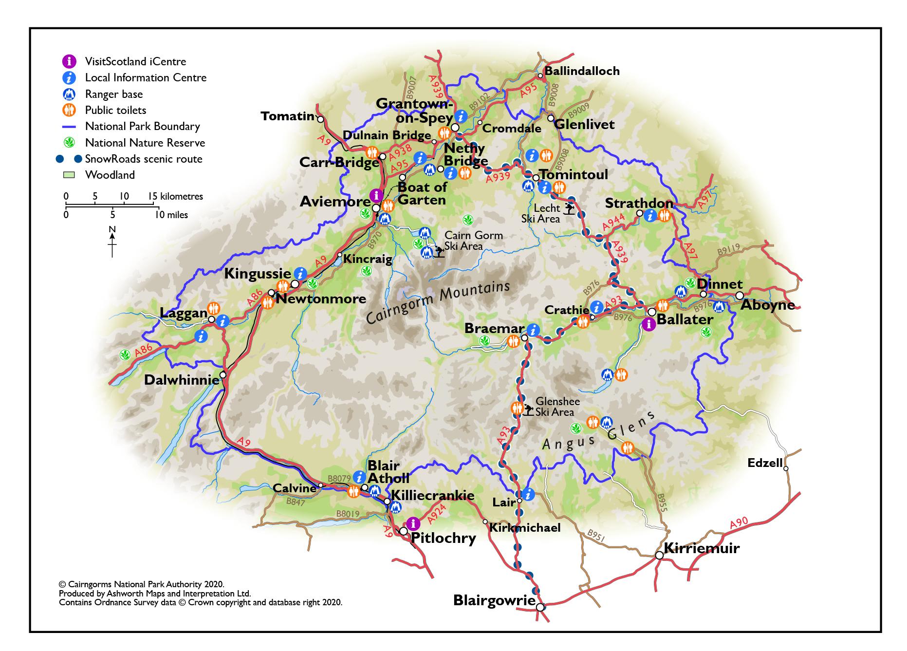 Map of community locations