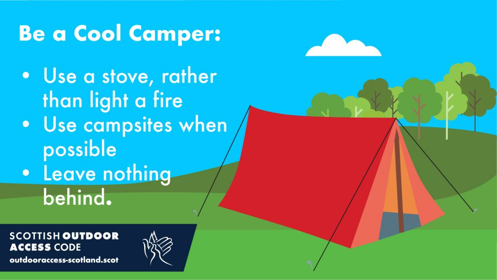 Be a Cool Camper message